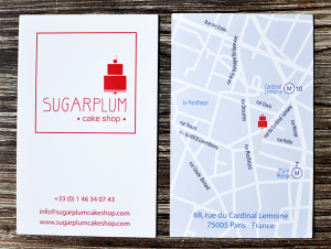 Carte de visite Sugarplum  ©TendanceFood.com
