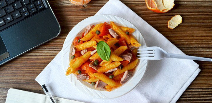 Lunchbox : Penne thon / tomates / câpres