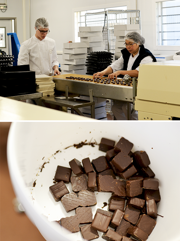 Premier tri et conditionnement - La Maison du Chocolat © Tendance Food