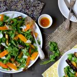 Salade de carottes et d'aubergines rôties