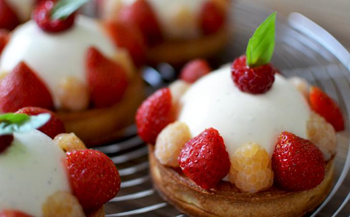 Tartelettes vanille fruits rouges