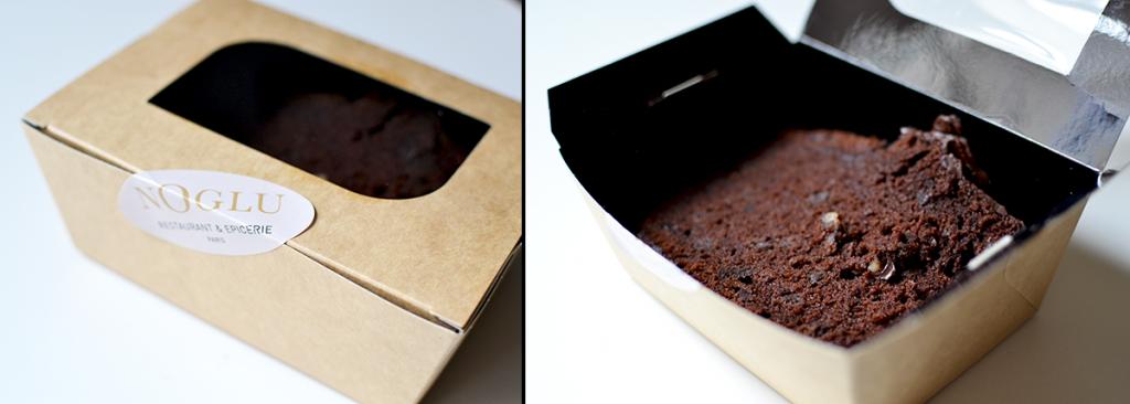 Cake au chocolat dans son emballage - NoGlu