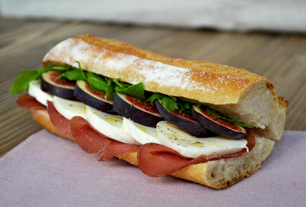 Sandwich figues et mozzarella