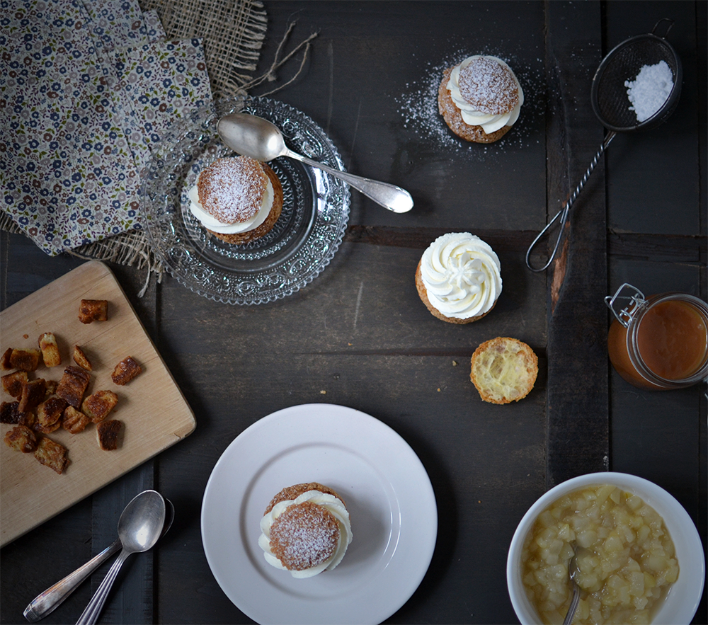 Choux poire, vanille, caramel - Tendance food