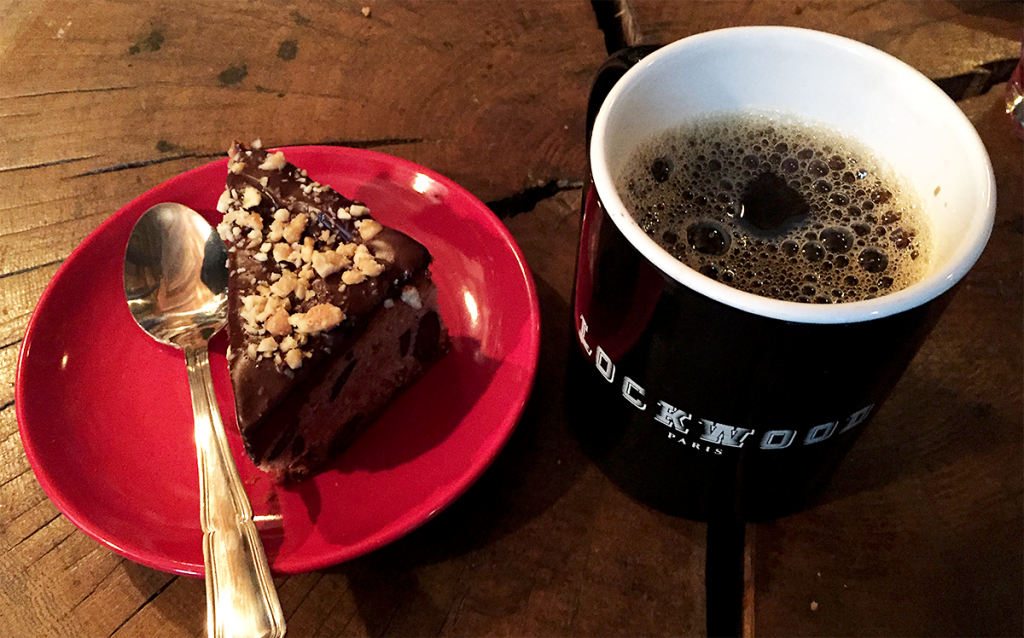 Brownie et café au Lockwood © Tendance Food