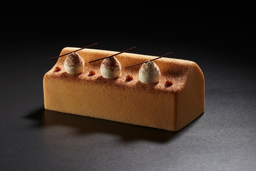 Bûche Cappuccino 2014 - La Pâtisserie Cyril Lignac