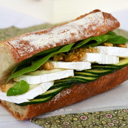 Sandwich chèvre miel noix © Tendance Food