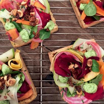 Tarte blanche aux légumes de saison - Tarte Kluger © Tendance Food