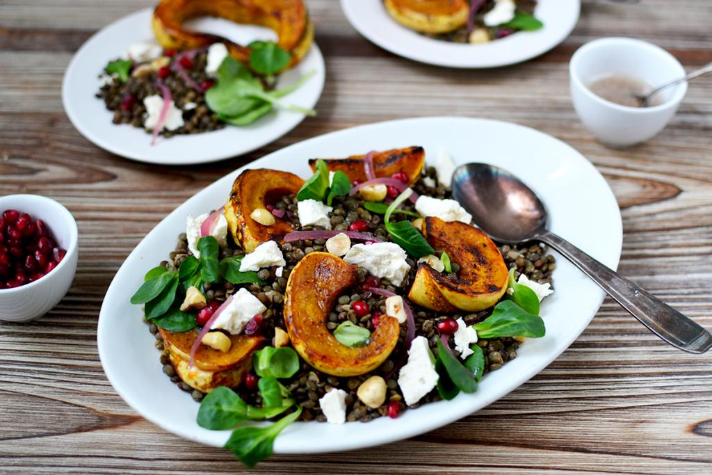 Salade de lentilles aux légumes d'hiver © Tendance Food