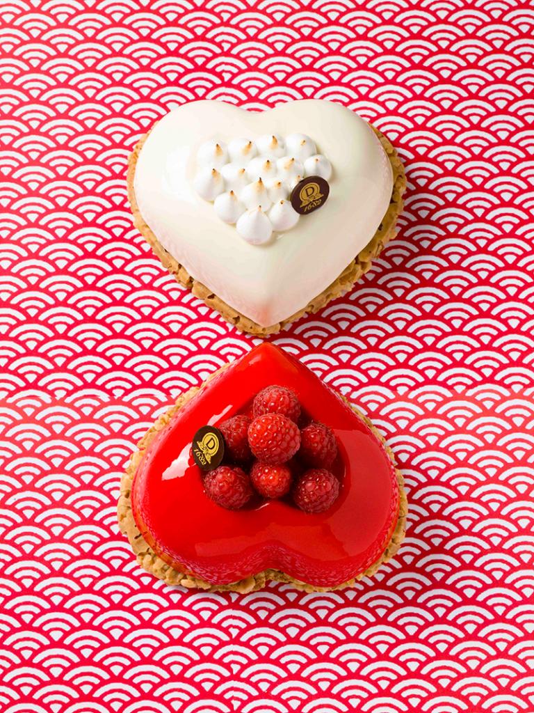 Entremets Coeur Rouge et Coeur Blanc - Saint Valentin 2015 - Dalloyau