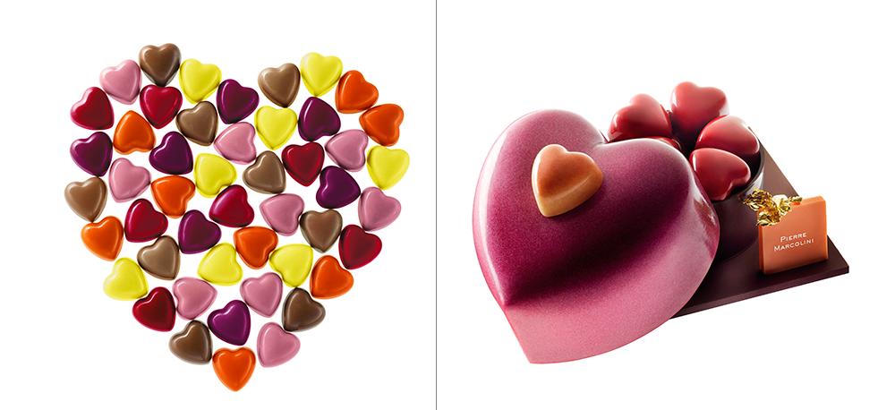Cœurs en chocolat et Cache-Cœur - Saint Valentin 2015 - Pierre Marcolini