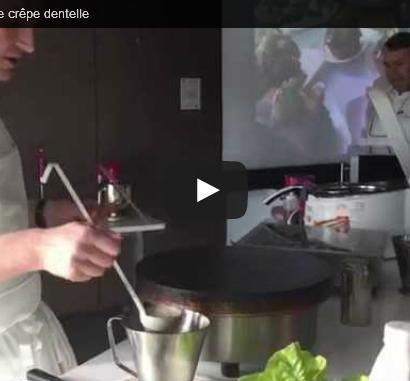 Comment réaliser une crêpe dentelle - par le maître crêpier Gilles Isola