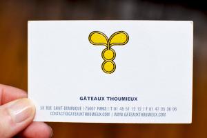 Carte de visite - Gâteaux Thoumieux © Tendance Food