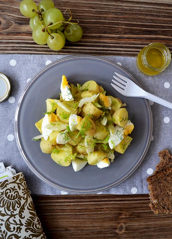 Lunch box : Salade de pommes de terre au fenouil, sauce au citron © Tendance Food