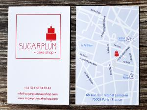 Carte de visite Sugarplum  ©TendanceFood.com