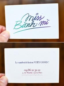 Miss Banh Mi 5 Rue Mandar, 75002 Paris ©TendanceFood.com