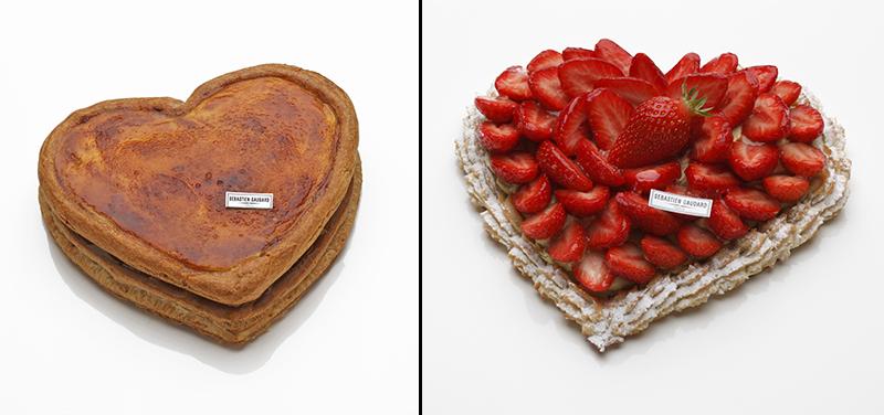 Cœur puits d'amour et Macaronade aux fraises ©Sébastien Gaudard