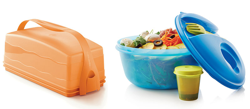 Plateau gourmand et son transporteur / Salad on the go – Tupperware ©Tupperware