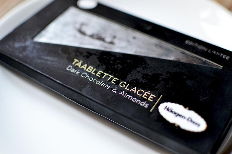 täablette Glacée Dark Chocolate & almonds - Häagen-Dazs ©TendanceFood.com