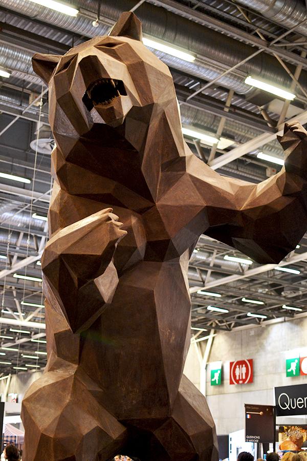 Sculpture Wild Choco Bear - Salon du Chocolat 2015 ©TendanceFood.com