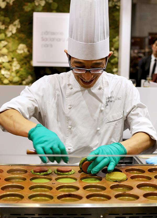 Macarons chauds au thé matcha du maître Sadaharu Aoki - Salon du Chocolat 2015 ©TendanceFood.com