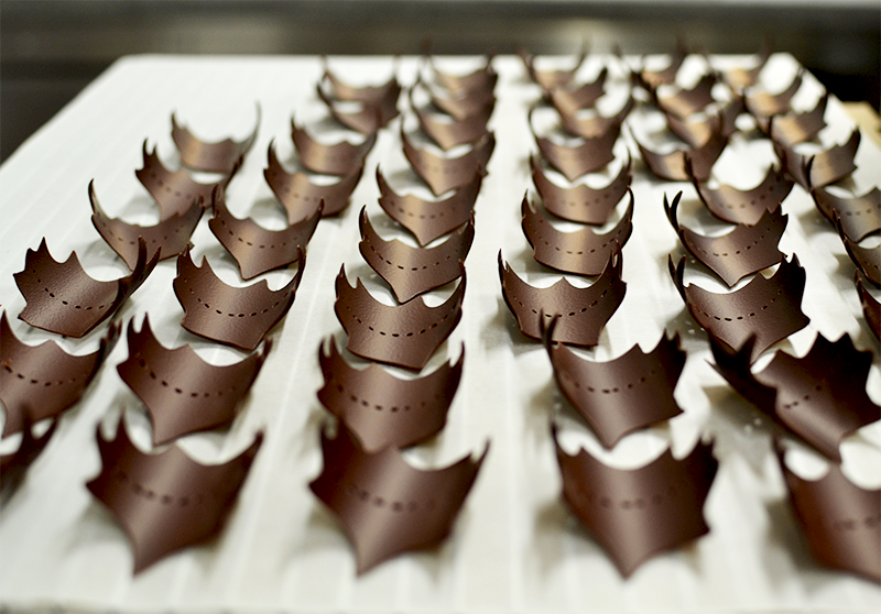 Feuilles en chocolat - La Maison du Chocolat © Tendance Food