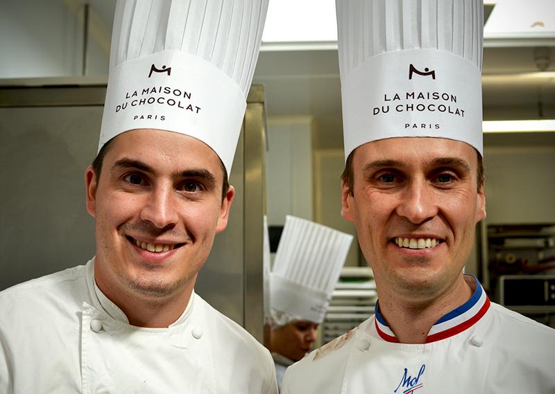 Alexis Daguet (Adjoint Création) et le Chef Nicolas Cloiseau de La Maison du Chocolat © Tendance Food