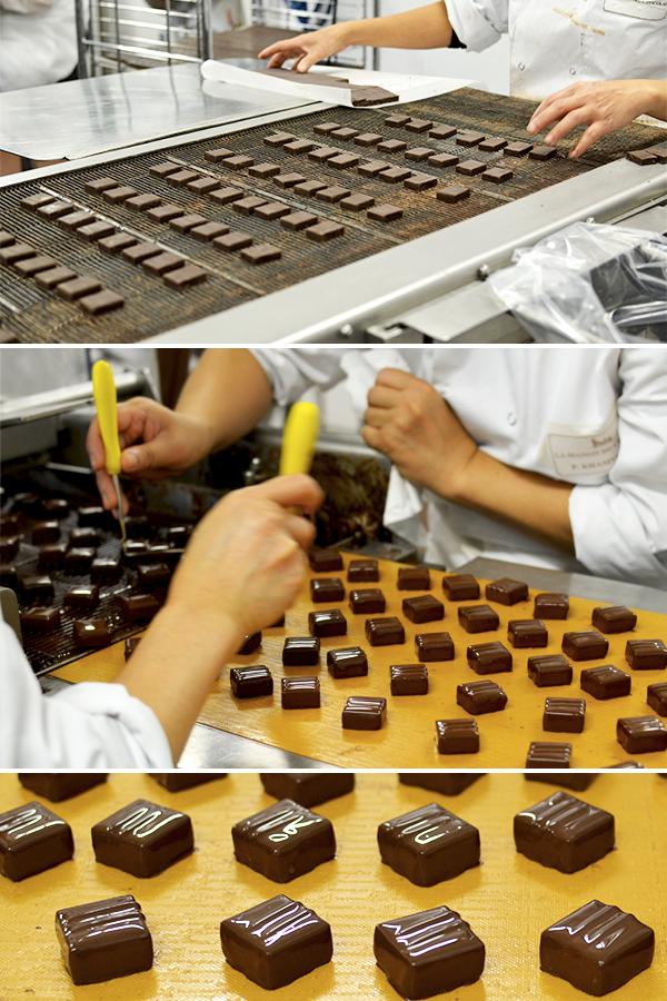 Enrobage de bonbons en chocolat La Maison du Chocolat © Tendance Food