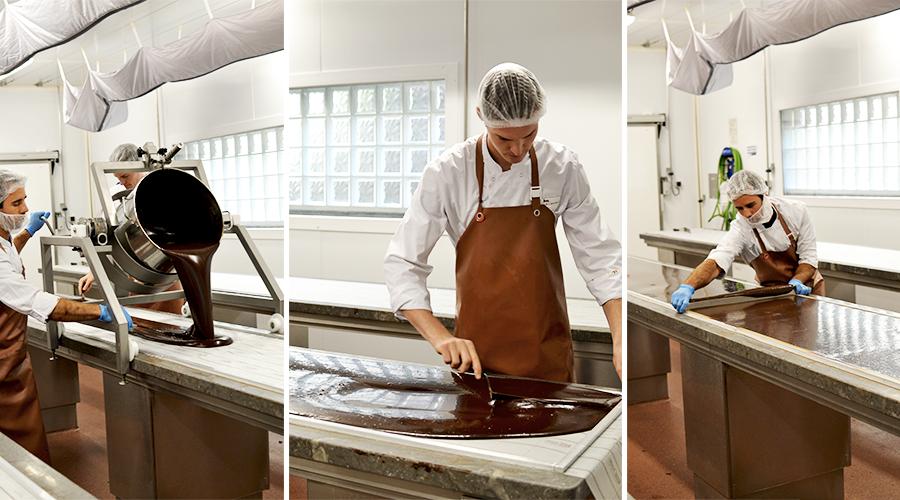 Moulage de la ganache - La Maison du Chocolat © Tendance Food