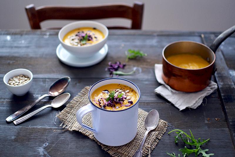 Soupe lentilles corail, lait de coco et butternut ©TendanceFood.com